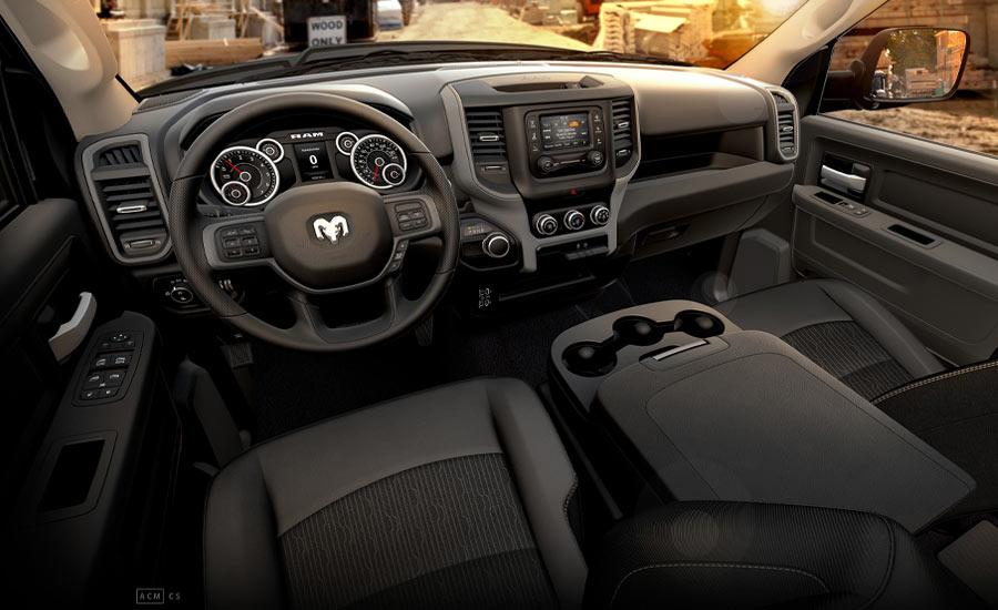 The interior of the Dodge Ram Heavy Duty 2500