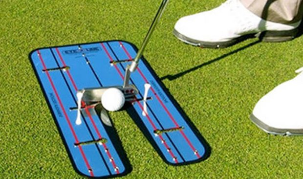 The eyeline mirror is used to work on putting alignment