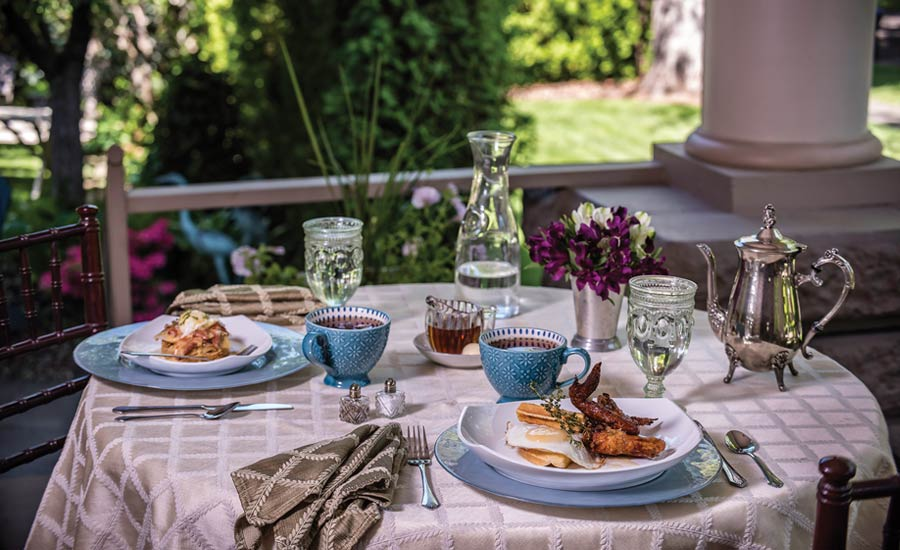 GETTING INN: Gourmet alfresco breakfasts and sumptuously appointed accommodations define the experience at Walla Walla's charming Green Gables Inn, housed in a meticulously refurbished home that dates to 1909.