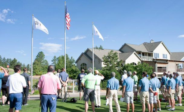 A salute to service a the Golf Club at Bear Dance