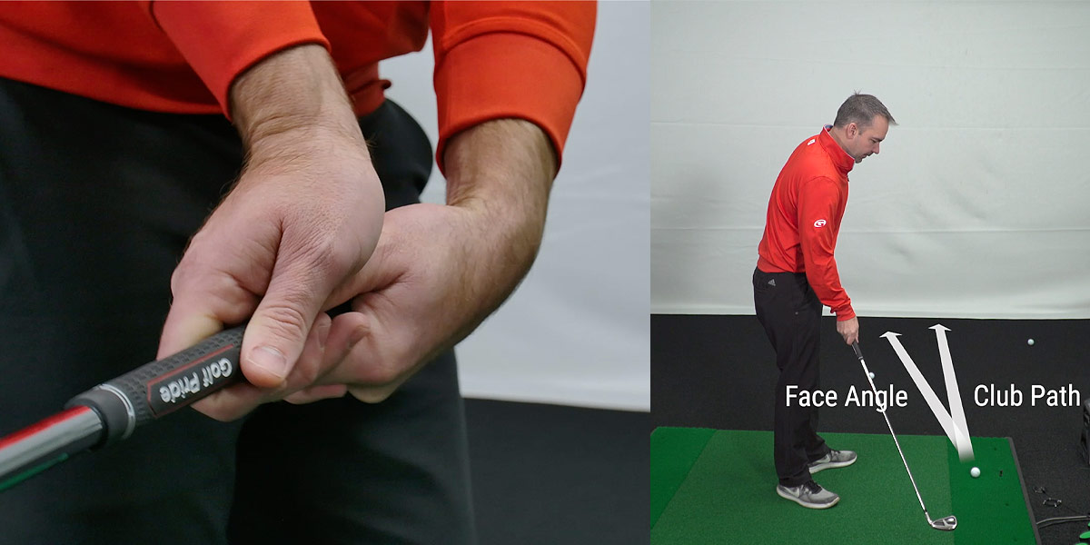 Club face angle backswing drill