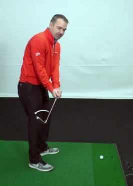 Initial backswing sequence