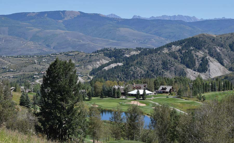 Vail Valley's The Club at Cordillera from the sky