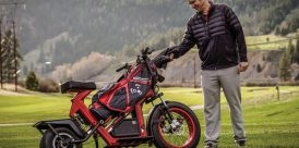 ROLLING DOWN THE FAIRWAY: The Finn Cycle speeds play and ups golf's cool factor.