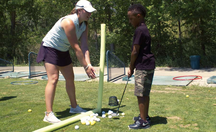 "SHOWING THE WAY: Hartman, a ""product of The First Tee of Denver,"" has given back to the game through numerous programs promoting diversity and inclusion."