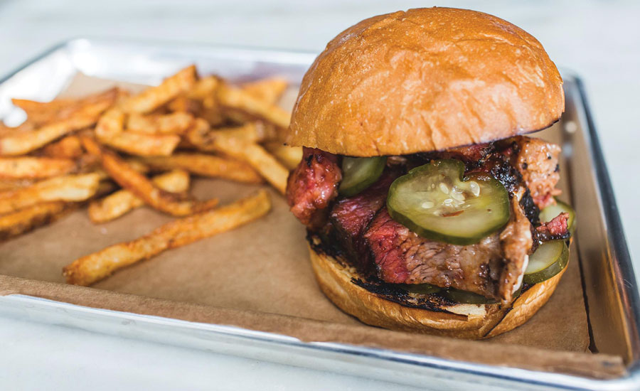 Smok's Burnt Ends taste best tucked into a warm brioche with housemade pickles.