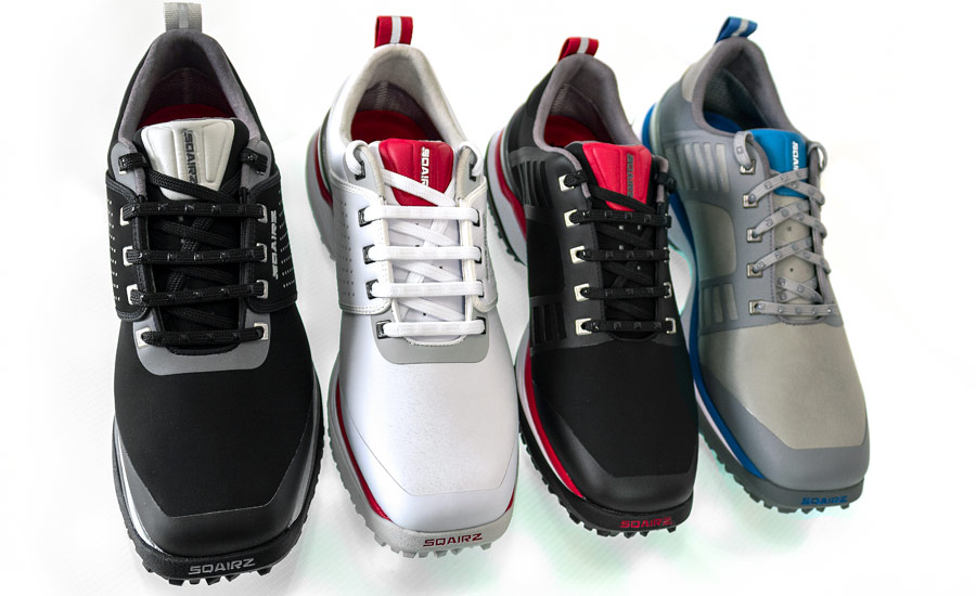 models of the Sqairz golf shoe