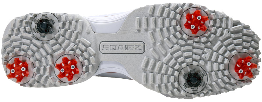 The sole of the new Sqairz Golf Shoe