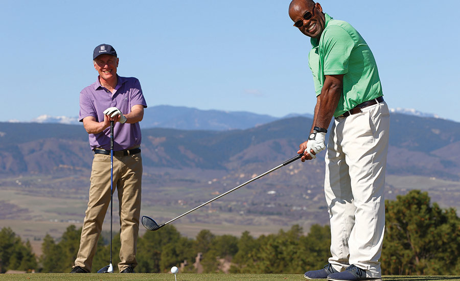Anthony Cotton, Editor, teeing off