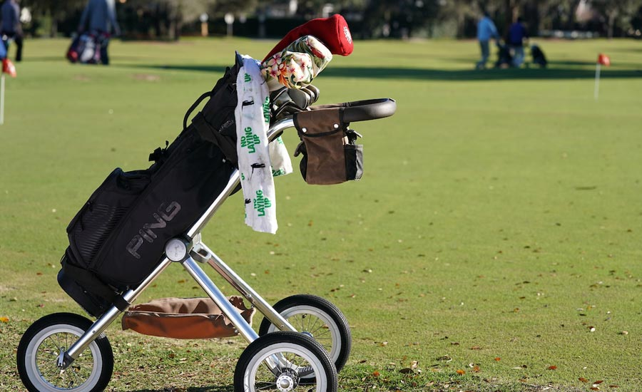 The Walker Trolley is a high-functioning, lightweight push cart that will up your golf game.