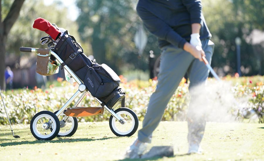 The Walker Trolley is a perfect way to walk the course in style.