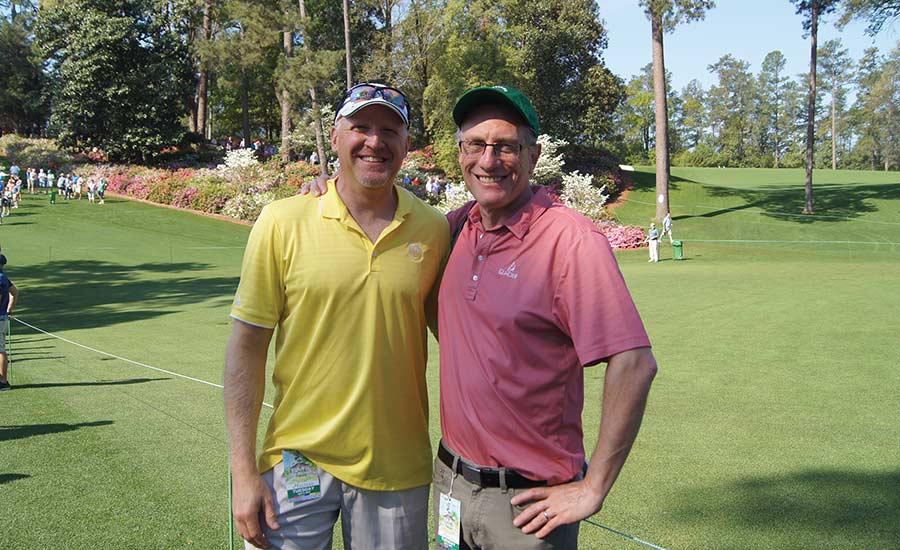 Jon Rizzi at Augusta National with Bob Cohen