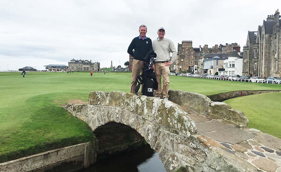 Jon Rizzi at St. Andrews with John Boyne
