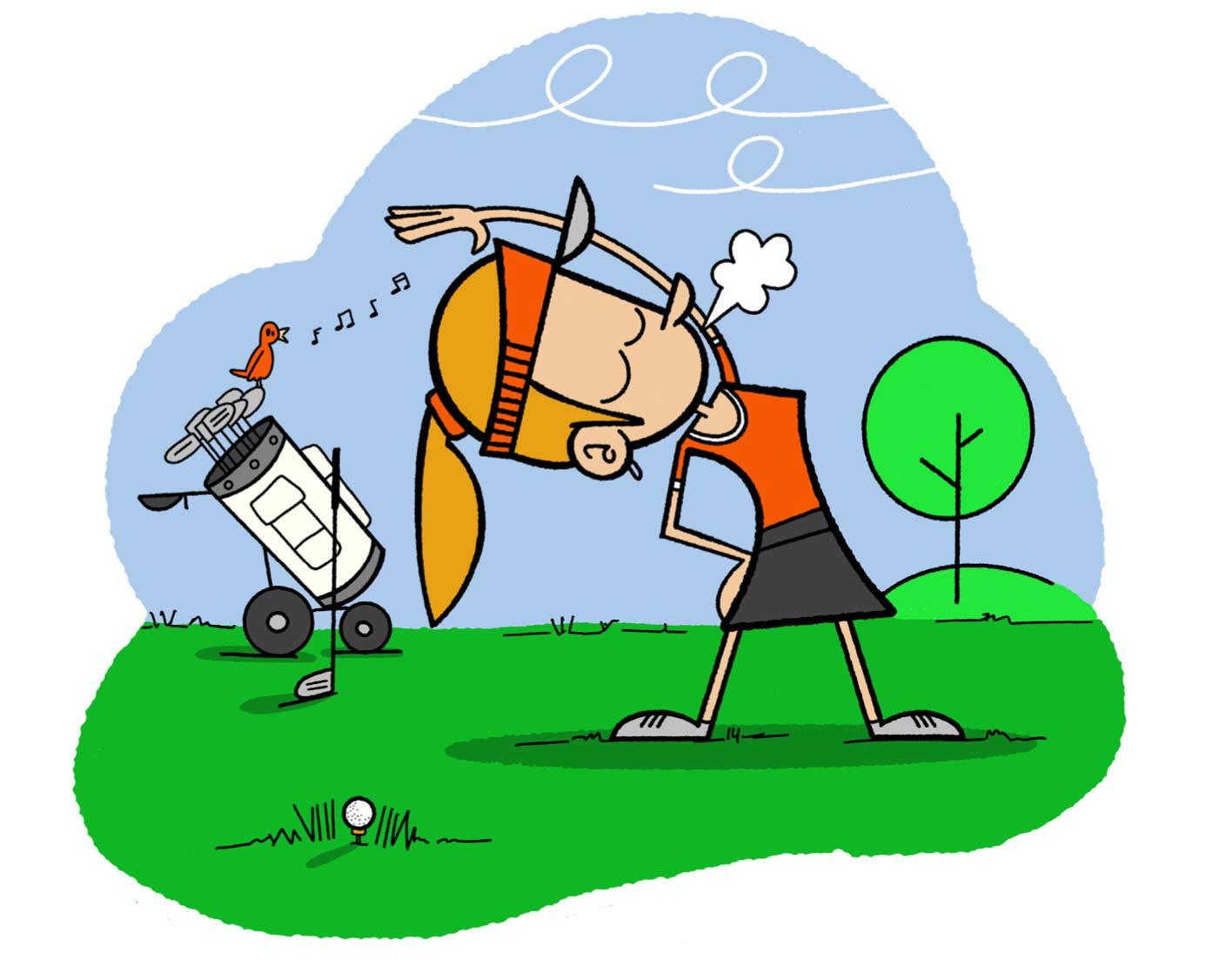 Practice Golf Cartoon One
