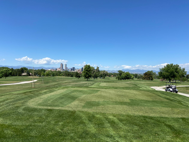 The 430-yard par-4 first hole at City Park