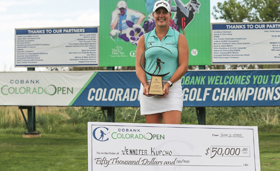 Jennifer Kupcho beats out Carlota Ciganda to win.