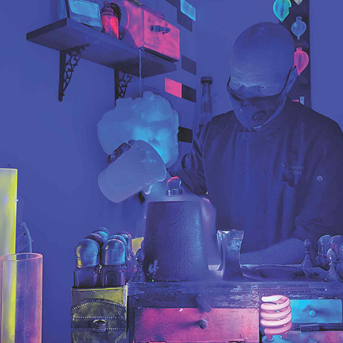 GLOWING REVIEWS: Chef Ian Kleinman will drop some knowledge—and some sweet treats—during Glow in the Dark demos at The Inventing Room.
