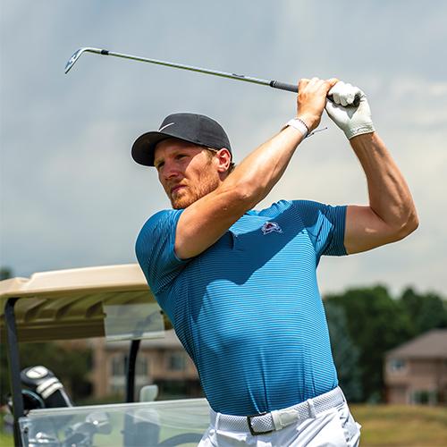 Gabe Landeskog Golfing