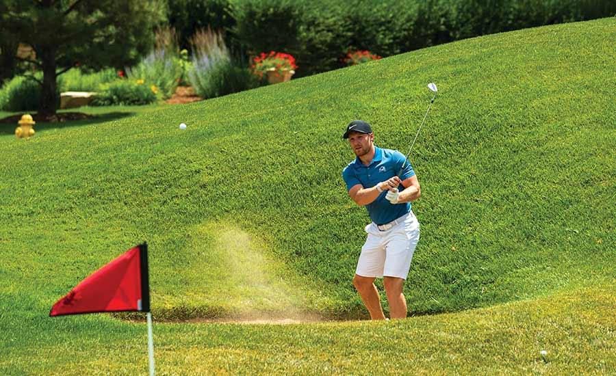 Gabe Landeskog Golfing 2