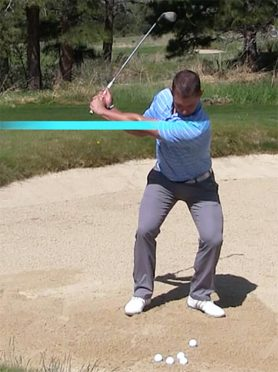 Sand Shot Distance Control Exercise