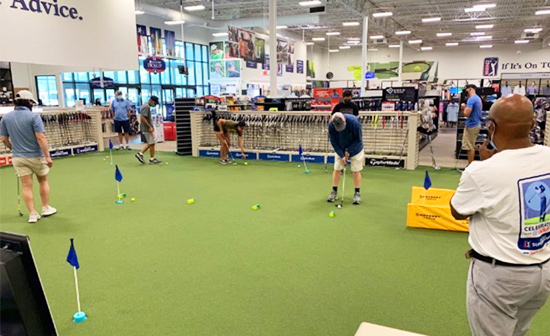 PGA Tour Superstore Social Distancing