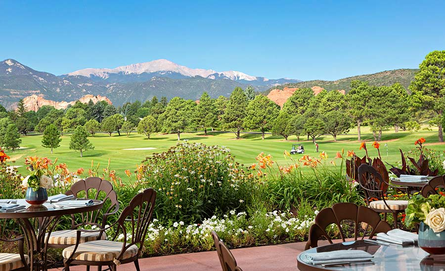 Patio: Garden of the Gods Resort and Club and Strata Integrated Wellness and Spa