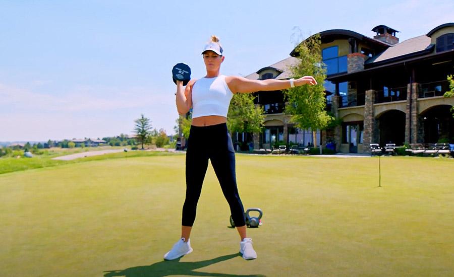 Get Golf Fit Squat Press