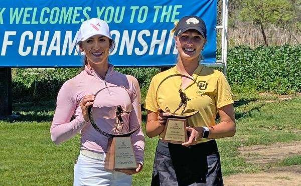 Savannah Vilaubi (left) and Hailey Schalk